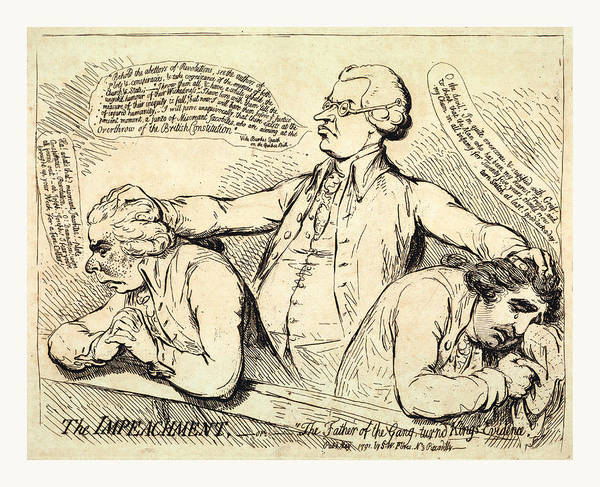 B B King Drawing - The Impeachment, Or The Father Of The Gang Turned Kings by English School