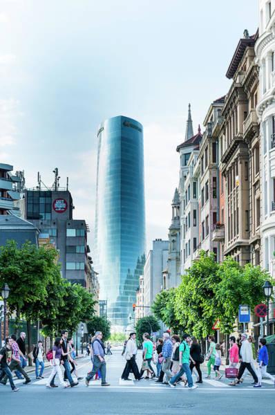 Bilbao Photograph - The Imposing Iberdola Tower by Mark Avellino