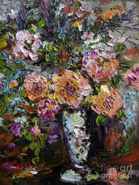 Painting - The Impressionists Heirloom Roses Still Life by Ginette Callaway