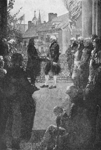 Brandywine Wall Art - Photograph - The Inauguration, Engraved By Francis Scott King, Illustration From Washingtons Inauguration by Howard Pyle