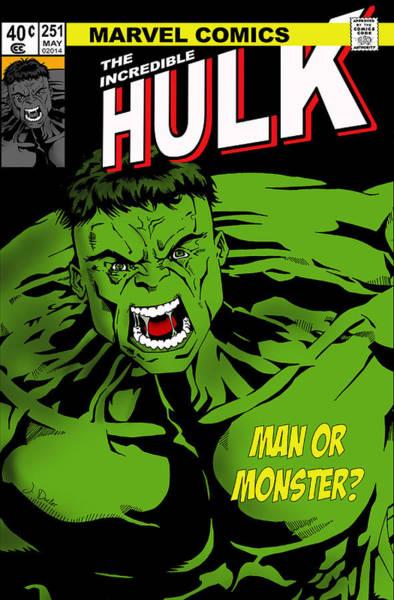 Flash Wall Art - Photograph - The Incredible Hulk by Mark Rogan