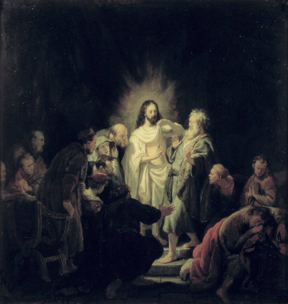 Painting - The Incredulity Of St  Thomas by Celestial Images