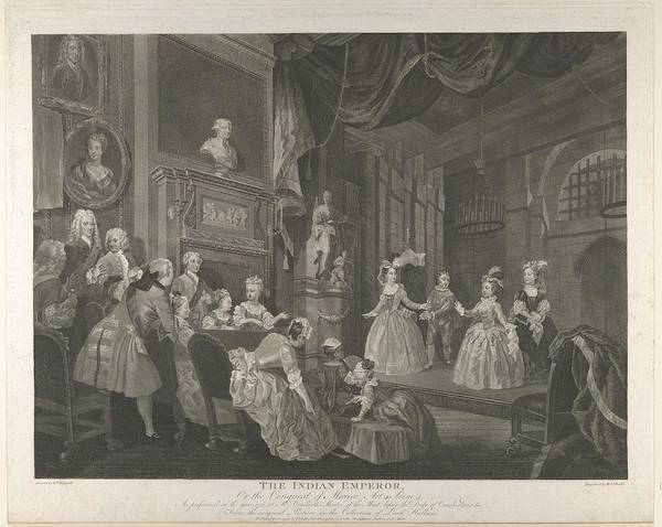 John Dryden Wall Art - Drawing - The Indian Emperor, Or, The Conquest by After William Hogarth