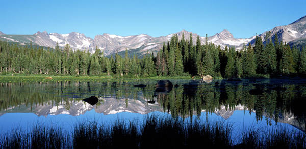 Indian Peaks Wilderness Photograph - The Indian Peaks Reflected In Red Rock by Panoramic Images
