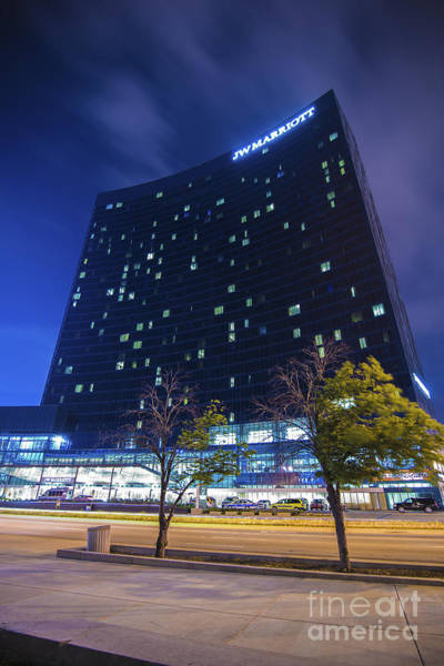 Photograph - The Indianapolis Jw Marriott Night 30 by David Haskett II