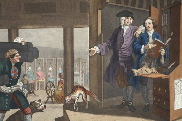 Morality Wall Art - Drawing - The Industrious Prentice A Favourite by William Hogarth