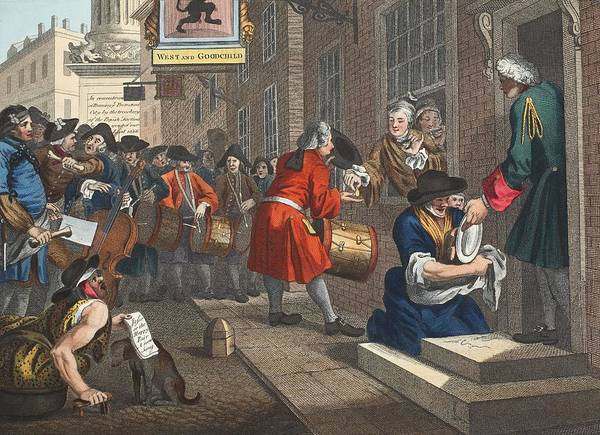 Georgian Drawing - The Industrious Prentice by William Hogarth