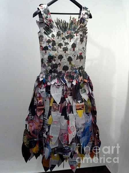 Paper Dress Mixed Media - The Infinite Metamorphosis by Patricia Burrell