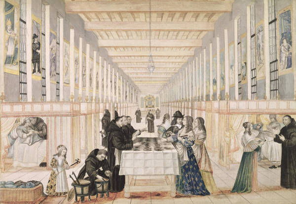 Ward Painting - The Infirmary Of The Sisters Of Charity During A Visit Of Anne Of Austria  by Abraham Bosse