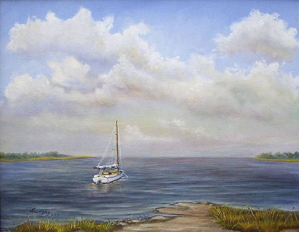 Painting - The Inlet by Katalin Luczay