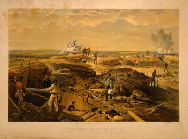 Angle Drawing - The Interior Of The Redan Taken From Its Left Face, Looking by Litz Collection