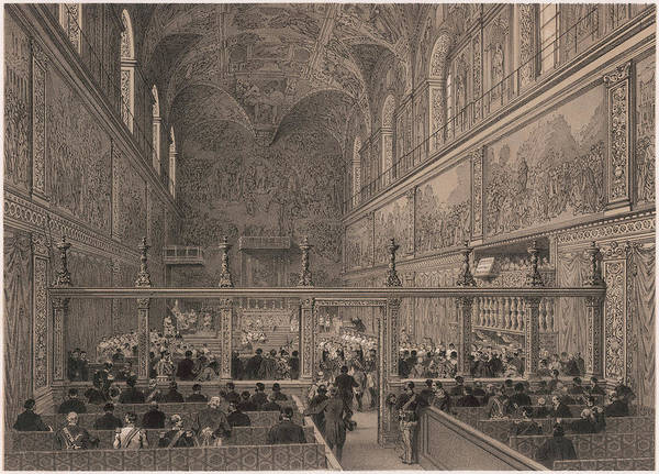 Rood Wall Art - Drawing - The Interior Of The  Spectacular by Mary Evans Picture Library