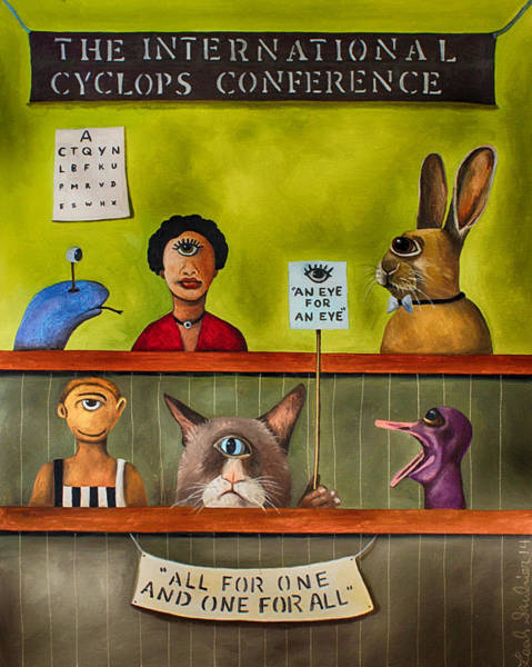 Wall Art - Painting - The International Cyclops Conference Edit 3 by Leah Saulnier The Painting Maniac