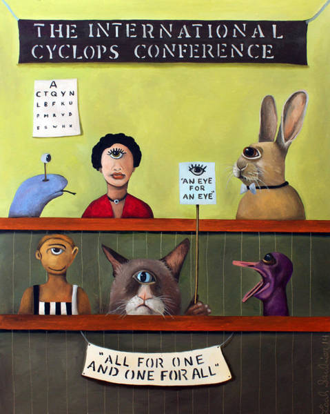 Painting - The International Cyclops Conference by Leah Saulnier The Painting Maniac