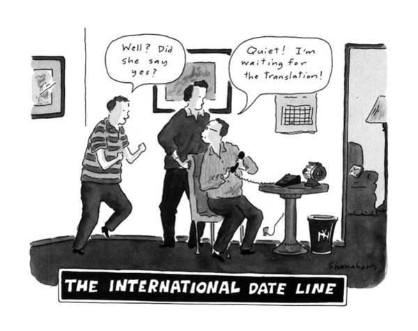 International Drawing - The International Date Line by Danny Shanahan