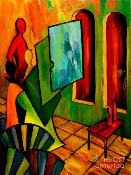 Wall Art - Painting - The Interruption by Larry Martin