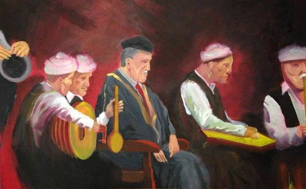 Wall Art - Painting - The Iraqi Maqam by Rami Besancon
