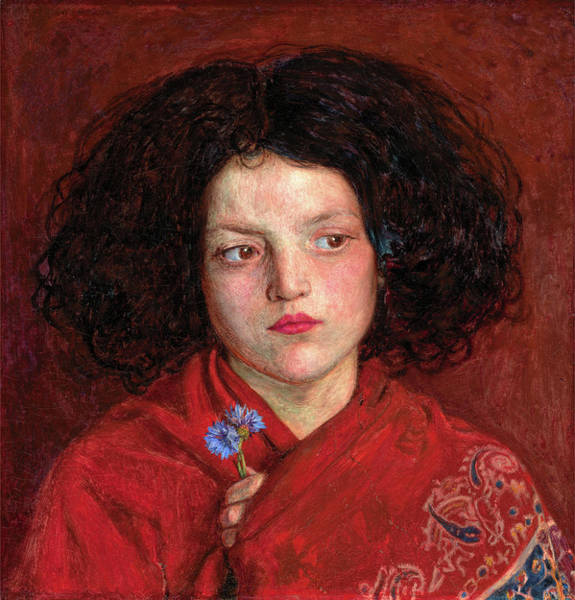 Blue Cornflower Painting - The Irish Girl, Ford Madox Brown, 1821-1893 by Litz Collection