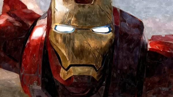 Wall Art - Painting - The Iron Man by Florian Rodarte