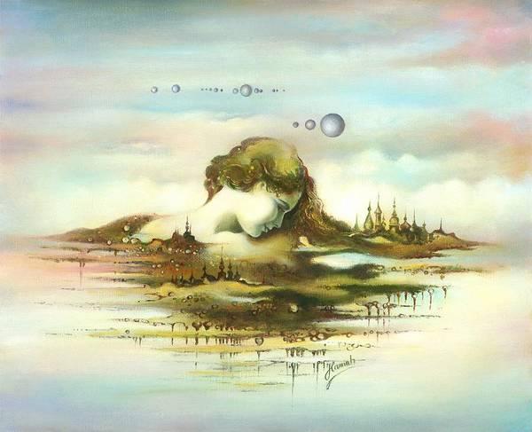 Painting - The Island by Anna Ewa Miarczynska