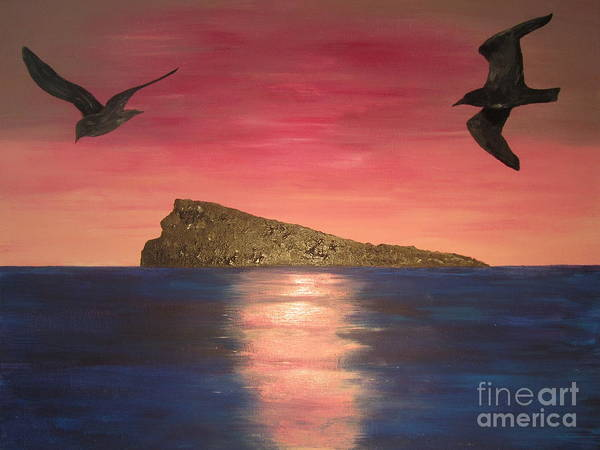 Wall Art - Painting - The Island by Jeepee Aero