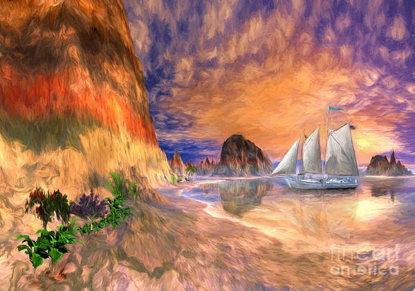 Wall Art - Digital Art - The Island Of Hope  by Heinz G Mielke
