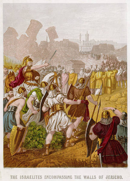 Wall Art - Drawing - The Israelites, Led By Joshua by Mary Evans Picture Library