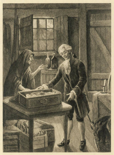 Black Magic Drawing - The Italian Adventurer Casanova by Mary Evans Picture Library