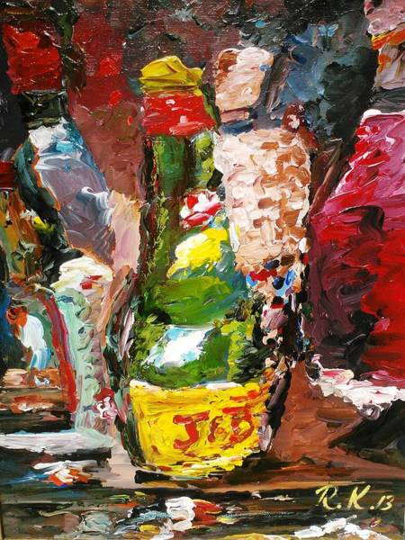 Painting - The J And B Bottle by Ray Khalife
