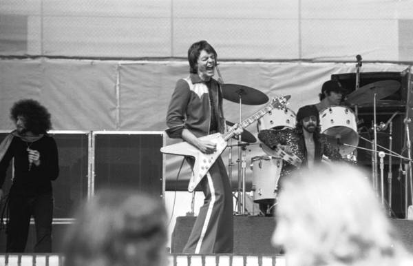 Photograph - The J. Geils Band In Action 1976 by Ben Upham