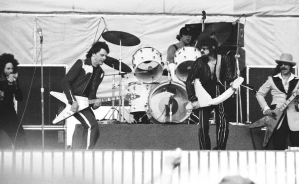 Photograph - The J. Geils Band Rock Out In Oakland In 1976 by Ben Upham