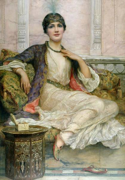 Jewel Painting - The Jade Necklace, 1908 by William Clark Wontner