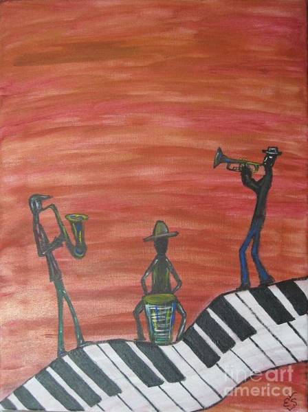 Conga Drum Painting - The Jam Session by Erika S