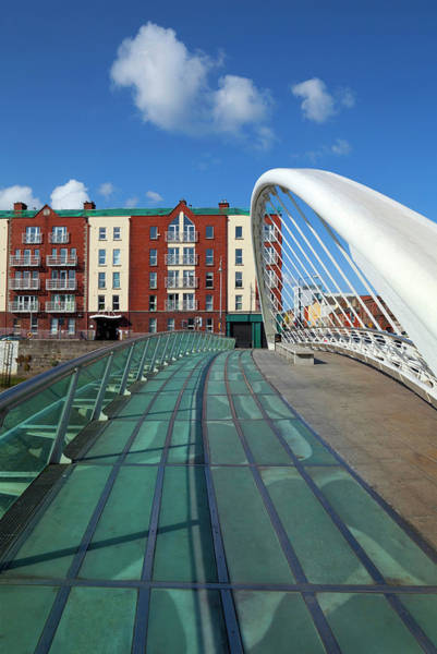River Liffey Wall Art - Photograph - The James Joyce Bridge Across The River by Panoramic Images
