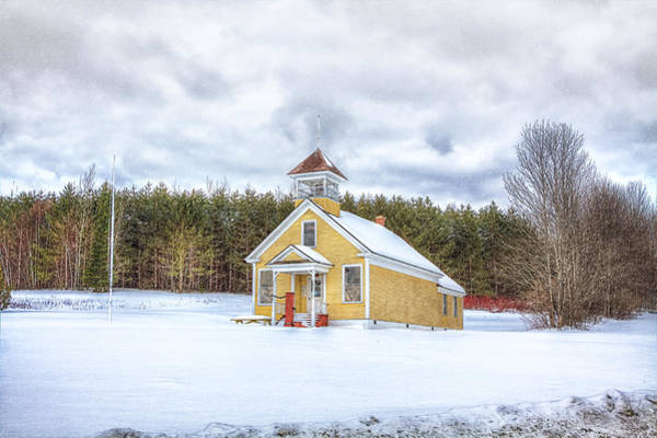 Aroostook County Photograph - The James School by Gary Smith