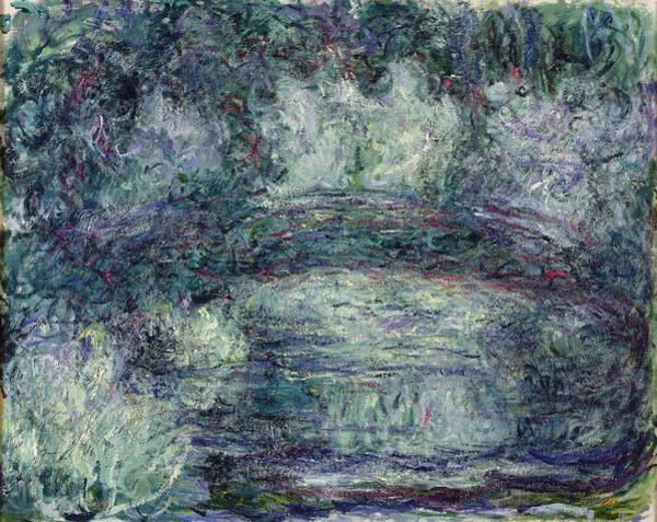 Giverny Photograph - The Japanese Bridge, 1918-19 Oil On Canvas See Detail 382336 by Claude Monet