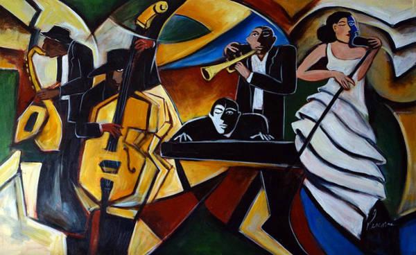 Sax Painting - The Jazz Group by Valerie Vescovi