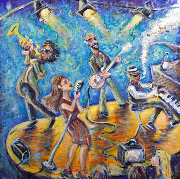 Jazz-funk Painting - The Jazz Lounge by Jason Gluskin
