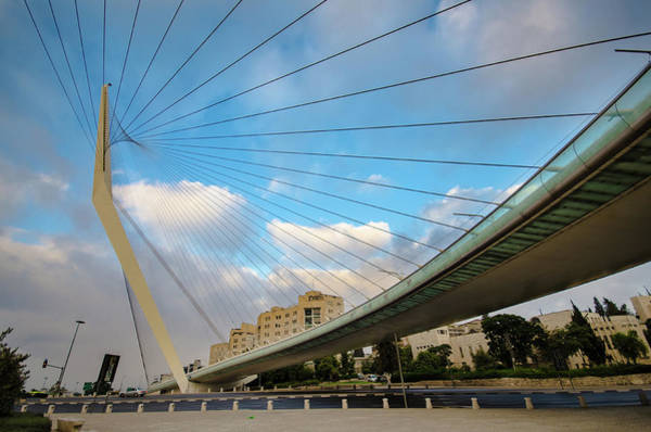 Jerusalem Photograph - The Jerusalem Chords Bridge by Ilan Shacham
