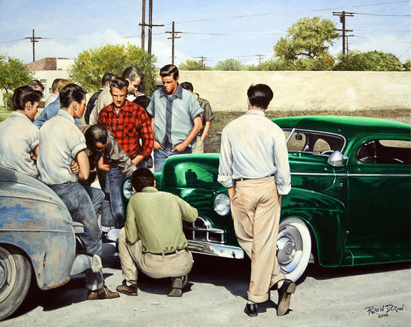 Wall Art - Painting - The Jesse Lopez '41 Ford by Ruben Duran