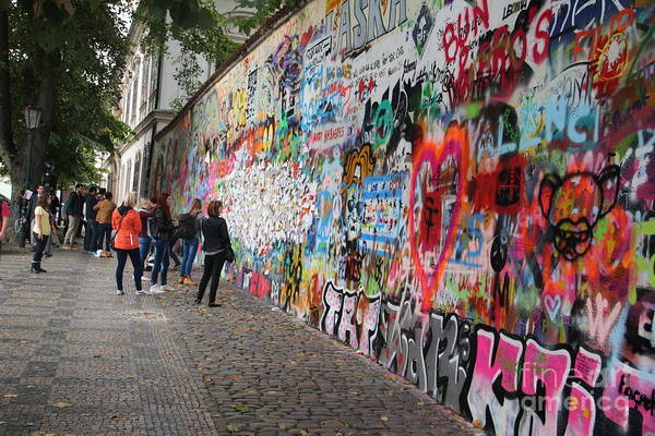 Wall Art - Photograph - The John Lennon Wall C by Dennis Curry