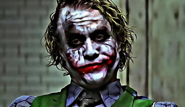 Painting - The Joker by Florian Rodarte
