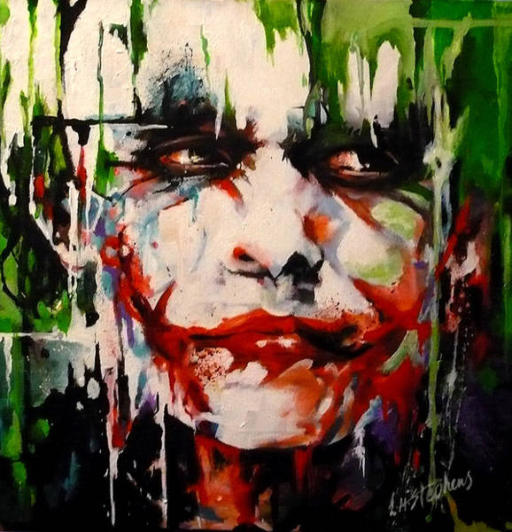 Serious Painting - The Joker by Lorna Stephens