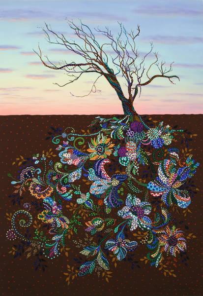Symbolism Painting - The Journey by Erika Pochybova
