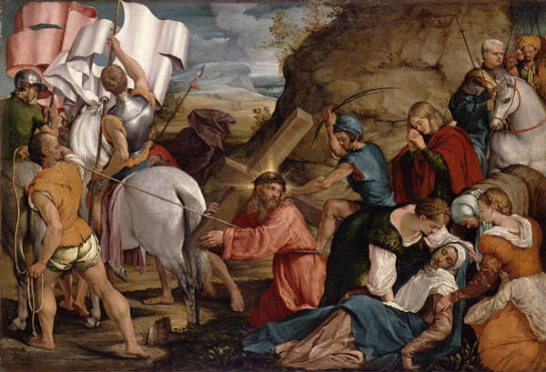 Faint Wall Art - Painting - The Journey To Calvary, C.1540 by Jacopo Bassano