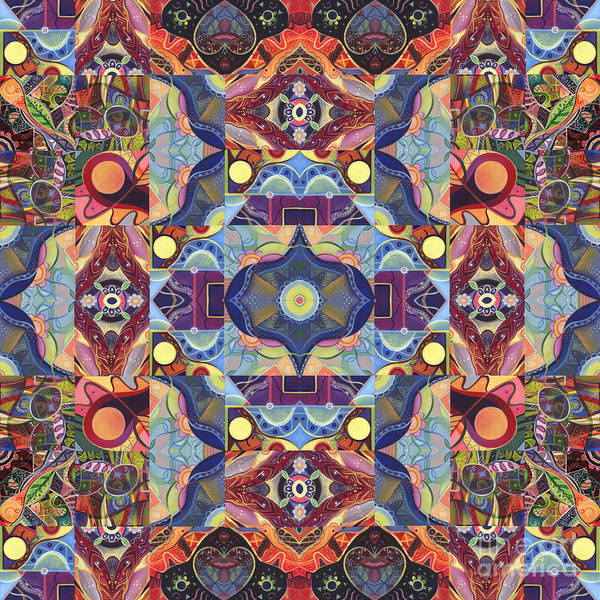 Wall Art - Mixed Media - The Joy Of Design Mandala Series Puzzle 1 Arrangement 1 by Helena Tiainen