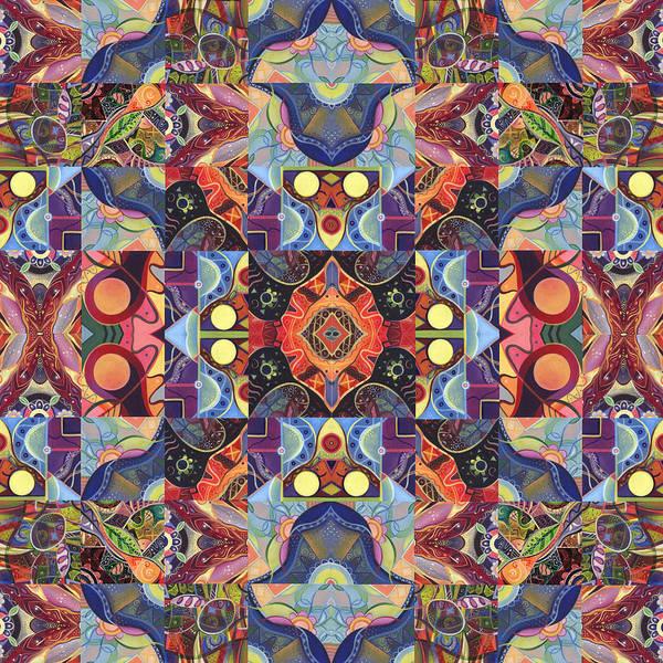 Digital Art - The Joy Of Design Mandala Series Puzzle 1 Arrangement 2 by Helena Tiainen