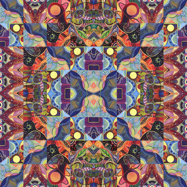 Digital Art - The Joy Of Design Mandala Series Puzzle 1 Arrangement 4 by Helena Tiainen