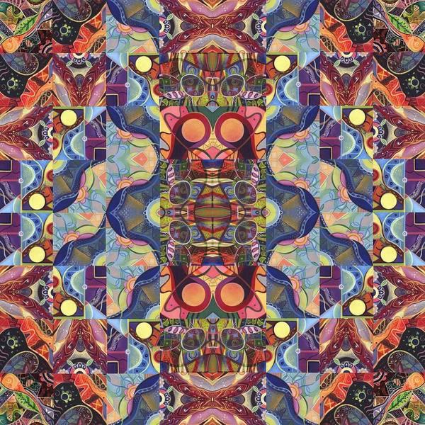Digital Art - The Joy Of Design Mandala Series Puzzle 1 Arrangement 5 by Helena Tiainen