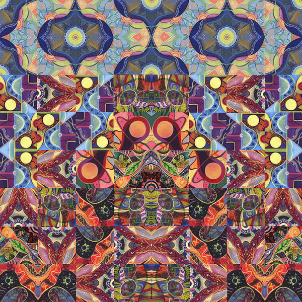 Digital Art - The Joy Of Design Mandala Series Puzzle 1 Arrangement 6 by Helena Tiainen